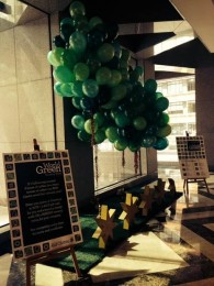 Carbon balloons at 50 Bridge Street, Sydney this week for World Green Building Week
