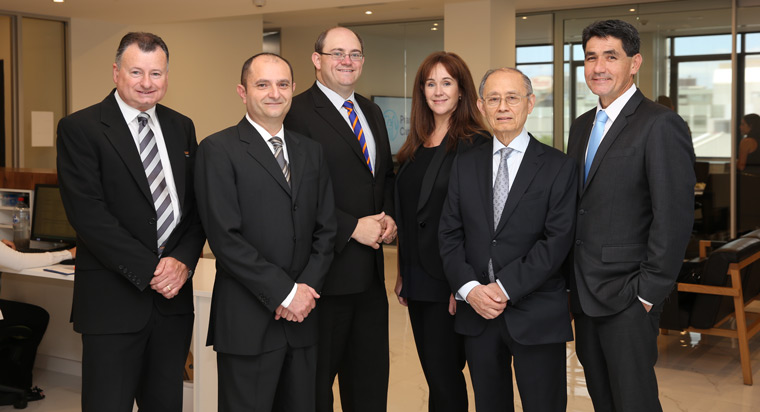 Steve Collis, bankmecu; Michael Peters; Parramatta mayor Scott Lloyd; Chris Hickey, OEH; Dr Lionel Chang; MP Geoff Lee.