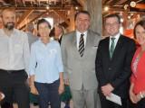 (Left to right) Starfish Initiatives' Liz Gardiner, Uralla Shire mayor Michael Pearce, Northern Tablelands MP Adam Marshall and NSW Parliamentary Secretary for Renewable Energy Leslie Williams.