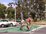 A bike box in action