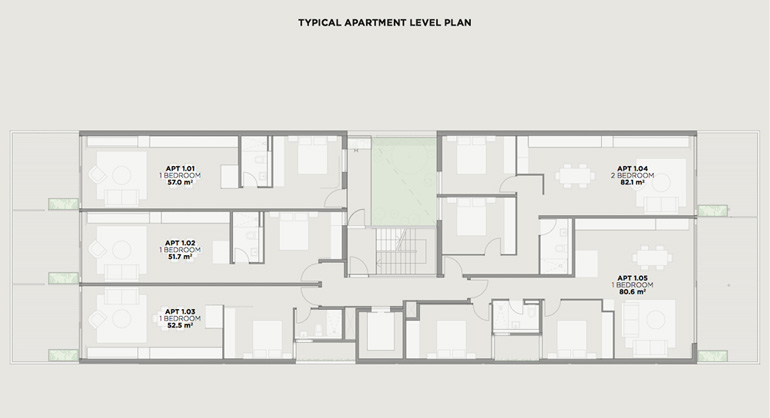 Radical apartments after the commons the nightingale for Apartment plans melbourne