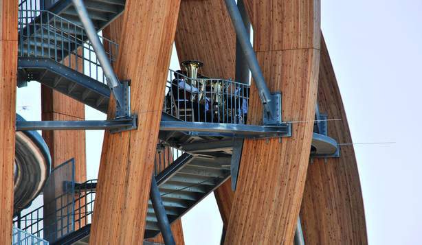 Pyramidenkogel, the world's tallest timber observation tower.