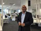 Keith Gunaratne in his Sydney office