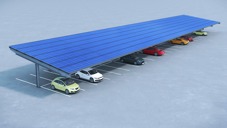 New solar carpark design