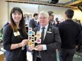Moreland mayor Meghan Hopper with MAV president Bill McArthur.