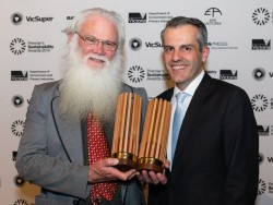 Stan Krpan (right) with the Premier's Recognition Award 2014 winner Neil Blake from Port Phillip EcoCentre