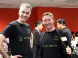 Wattblock's Ross McIntyre (left) and Brent Clark