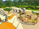 Artist's impression of green space at Ecco Ripley in Ipswich.