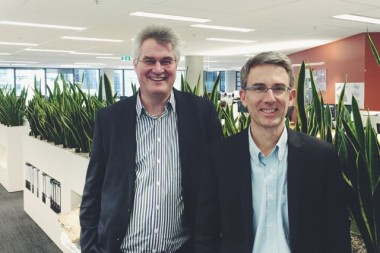 Jeff Robinson, left, with Chris Buntine