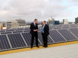 Adelaide Lord Mayor Martin Haese (left) with SA Climate Change Minister Ian Hunter.