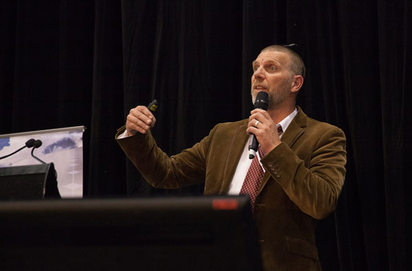 Nigel Morris at the 2015 Solar Energy Conference.