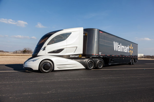 One of Walmart's efficient trucks