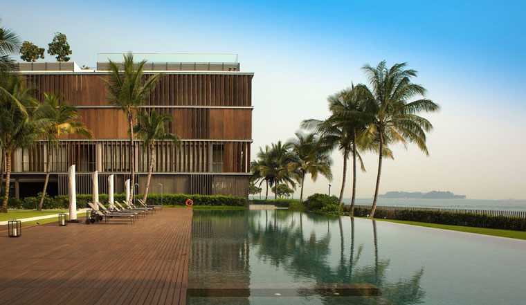 Kerry Hill Architects' Seven Palms Sentosa Cove. Image: Albert Lim