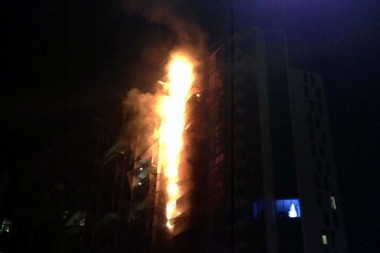 The Lacrosse Apartments fire at Docklands, Melbourne