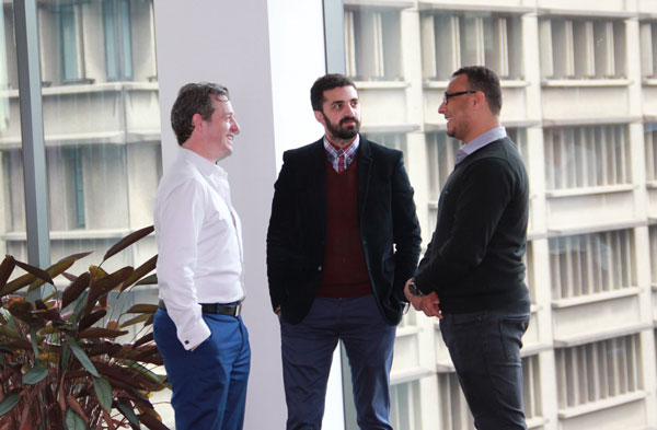 (L-R): CIM Environmental Group's David Walsh, Amirali Mortazavi and Antonious Mickaeal