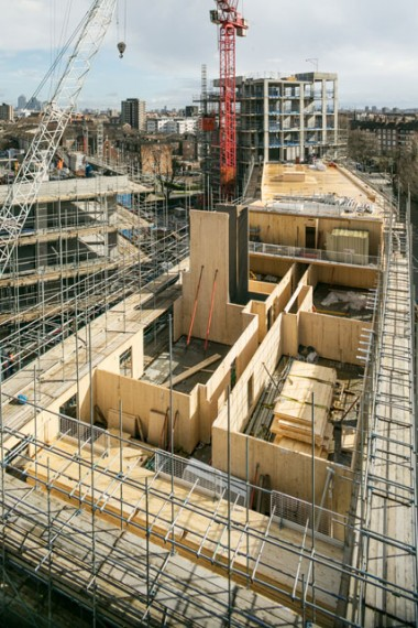Lendlease using CLT at Trafalgar Place in London.