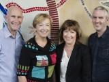 Enova founding partners Steve Harris, Alison Crook, Melissa MacCourt, and Patrick Halliday