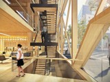 A Sydney CBD timber office. Image courtesy of Fitzpatrick + Partners.