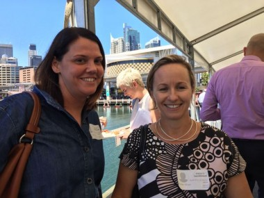 Celia Cavanagh-Downs of Melbourne based interior design company PTID (left) and Kirsten brown of HermanMiller