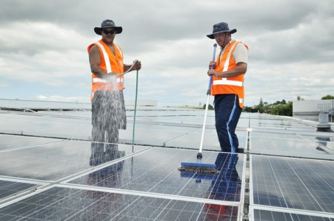 Sylvia-Park-solar-gets-its-first-hand-washing
