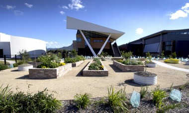 The Sustainable Buildings Research Centre in Wollongong, NSW, which has a Living Building Challenge rating.  The Sustainable Buildings Research Centre at the University of Wollongong, NSW, was designed and constructed based on the principles of the Living Building Challenge, and is currently pursuing Living Building Challenge certification.