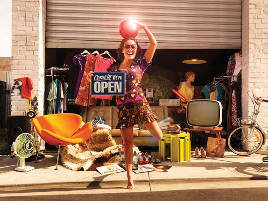 Behaviour change should be about promoting community around good behaviour that already exists. Pictured: The Garage Sale Trail campaign.