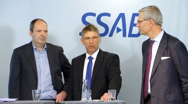 (L-R): Martin Lindqvist, SSAB president and CEO; Jan Moström, LKAB president and CEO; Magnus Hall, Vattenfall president and CEO.