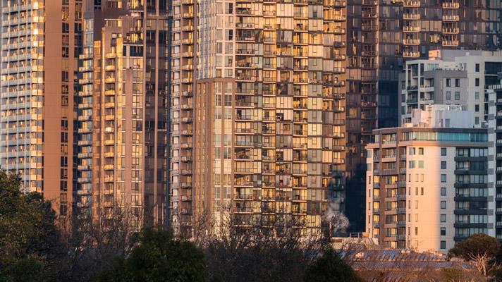 Melbourne apartment blocks