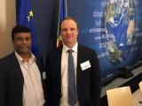 (L-R): Scientia Professor Deo Prasad and Professor Peter Graham, Global Building Performance Network, at the Global ABC meeting in April in Paris.