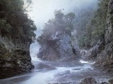 The Rock Island Bend image used in advertising against the Franklin Dam's construction. Environmentalists say this site would be a dam today if not for peaceful protest, now under threat. Image: Peter Dombrovskis