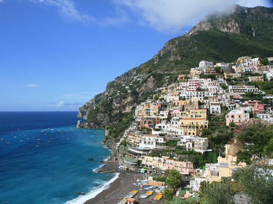 Positano, Amalfi Coast, Italy. The country is taking advantage of all the sunshine with renewables. Image: Glen MacLarty/<a href=