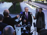 Treasurer Scott Morrison addresses the media prior to his budget address.