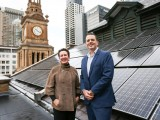 City of Sydney Lord Mayor Clover Moore and sustainability director Chris Derksema