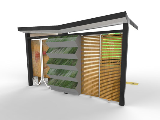 Wood Bus Shelter : City of penrith to prototype climate resilient bus shelter
