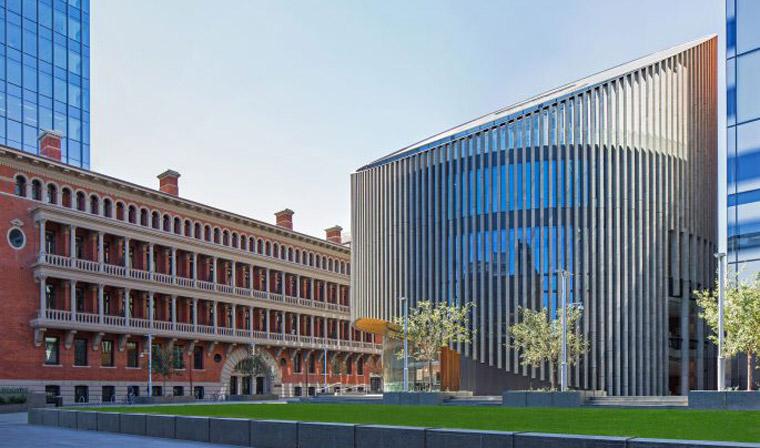 City of Perth Library and Public Plaza. Image: Nicolas Putrasia