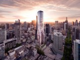 A render of EQ Tower in Melbourne. Constructing the building to net zero standard would generate over $9 million in economic benefits.