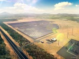Artist's impression of the Lakeland solar and storage plant.