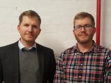 Matt Sullivan, chief executive Hux, left, with Rhys Sullivan, head of product.