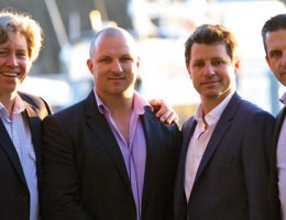 (L-R): Strongbuild directors Chris Francis, Tim Strong Jamie Strong and Adam Strong.