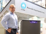 Dr Glenn Platt with the Evergen intelligent home energy management system at the company's research headquarters at CSIRO Energy centre, Newcastle.