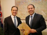 Here's  looking at you Greg Hunt (left) and Josh Frydenberg