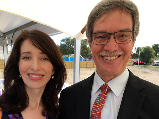 Jemma Green with WA energy minister and treasurer Mike Nahan.