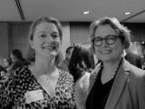 Sara Stace, NSW Cities Unit (left) with Julie Bindon JBA, at last week's BEMP conference.