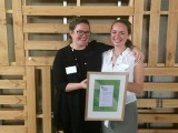 Olivia Leal-Walker (right) with last year's Future Green Leader Lisa Hinde.