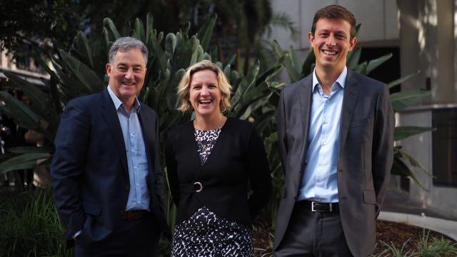 Mark Lyster (left), Danielle  Mulder;  Jean-Louis Haie