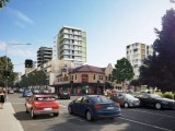 An artist's impression of a revitalised Parramatta Road at Granville.