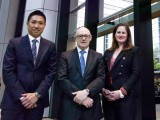 (L-R) Jason Leong, Investa group executive & fund manager; Rory Lonergan, CEFC Investment Funds lead; Nina James, Investa general manager, corporate sustainability.