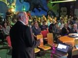 Professor Geoffrey London at the baugruppen information night.