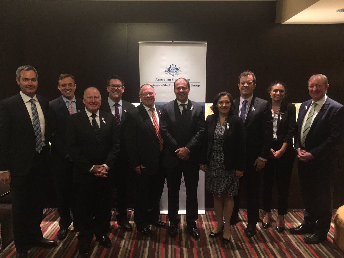 Environment ministers, photo from a post on Twitter by Josh Frydenberg