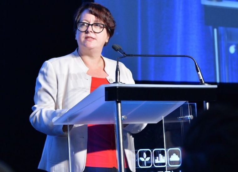 Penny Sharpe, Labor Shadow Minister for Environment and Heritage speaking at Green Cities, Photo: Green Cities 2017